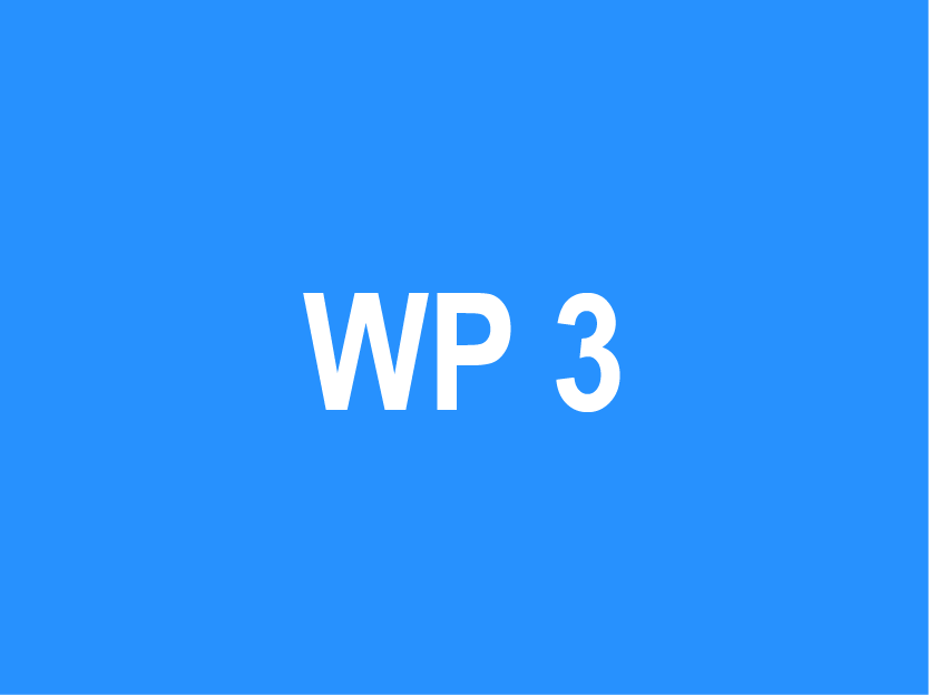 WP 3 – Development of training content to increase…