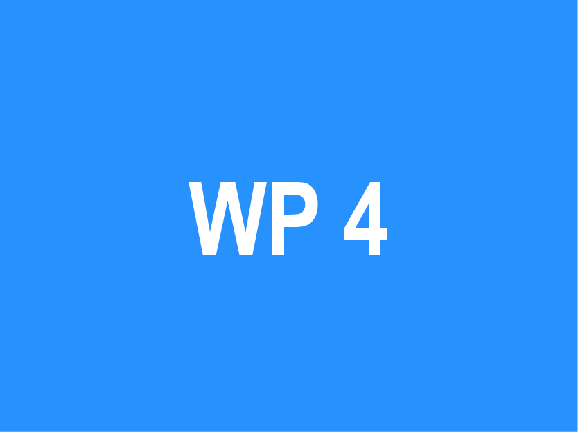 WP 4 – Organisation of training and re-training