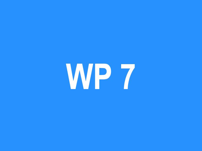 WP 7 – Quality Assurance