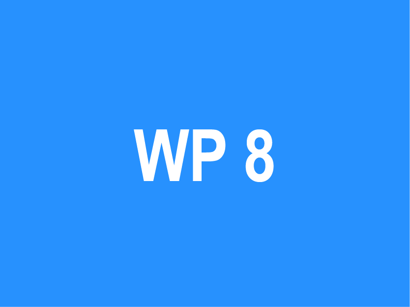 WP 8 – Dissemination and…